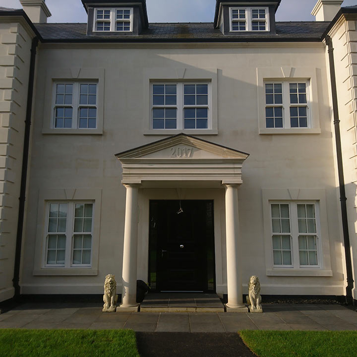 New build Portland stone exterior Private Residence