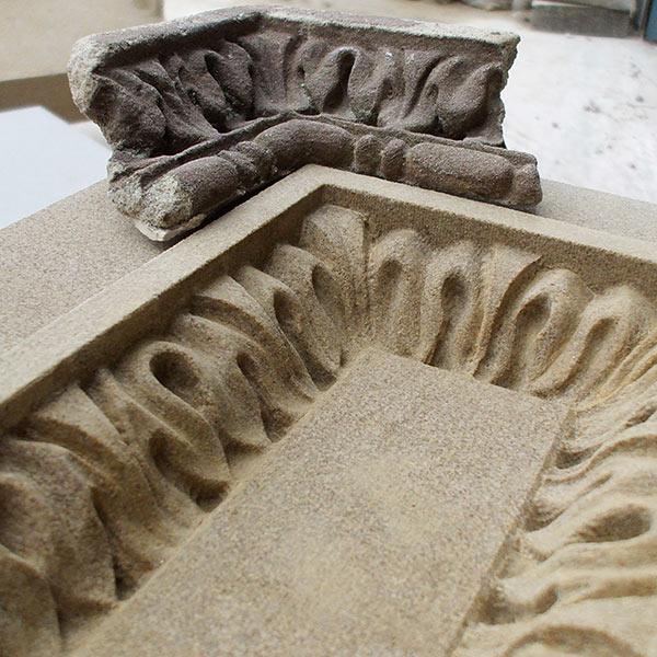 Peakmoore Sandstone Balustrade Panels Melbourne University Australia stonework scanning reproduction