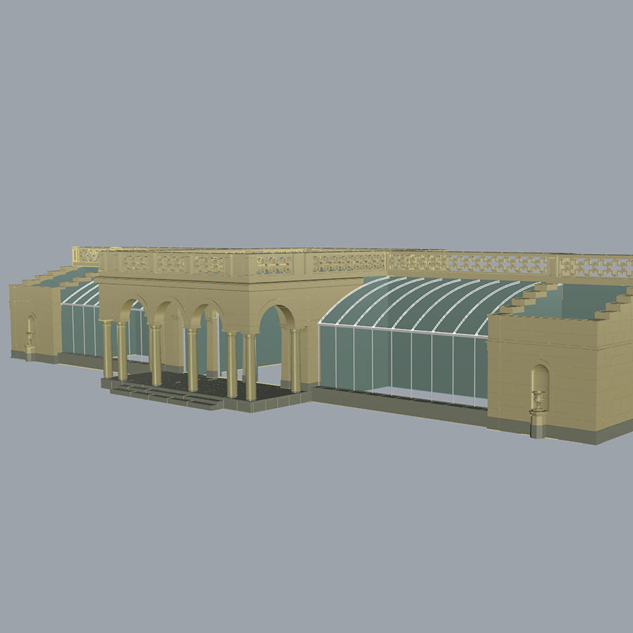 Private Residence Glass House Design CAD