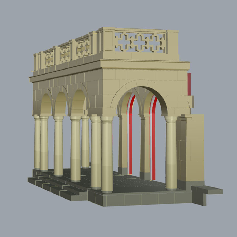 Private Residence Portico CAD